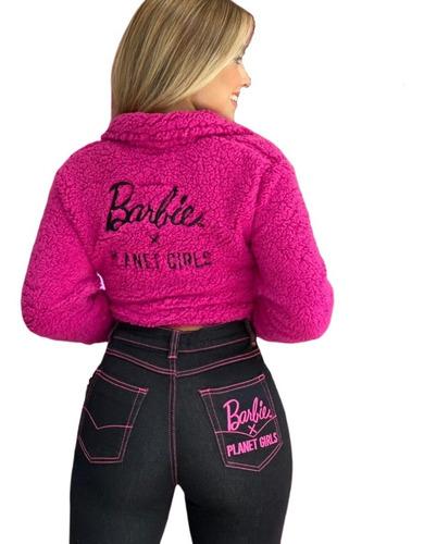 Imagem 1 de 5 de Jaqueta Carneirinho Pelucia Letreiro Barbie Planet Girls