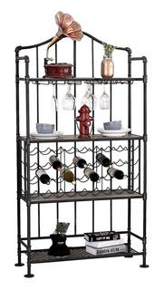 Furniture Of America Cm-ac6461 Gabinete Para Botellas De Vi
