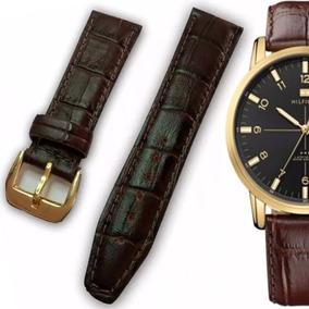 Pulseira Couro Croco Relógio Tommy Hilfiger 22mm Frete Gráti