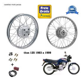 Roda Montada Moto Honda Titan 125 Ate 1999