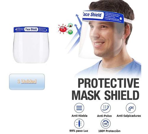 Careta Mascara Protección Facial Bioseguridad Importada X 1u