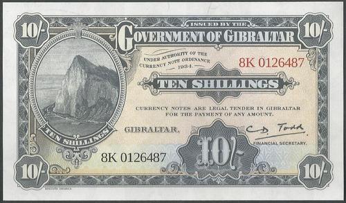 Gibraltar 10 Shillings 2018
