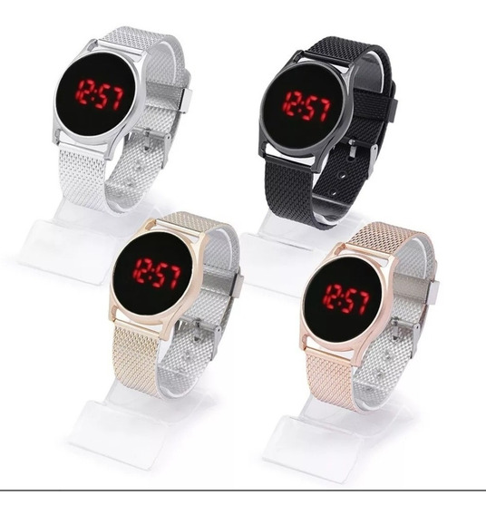 Kit Com 10 Relógios Digital Feminino Atacado Lote Revenda