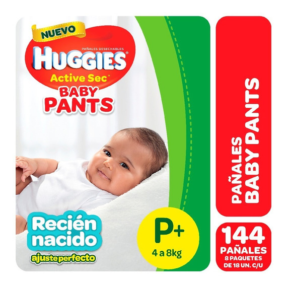 Pañales Huggies Active Sec Baby Pants Mx16 Gx14 Pack X 8