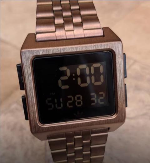 Relógio Digital Pulseira De Aço, Tela Digital