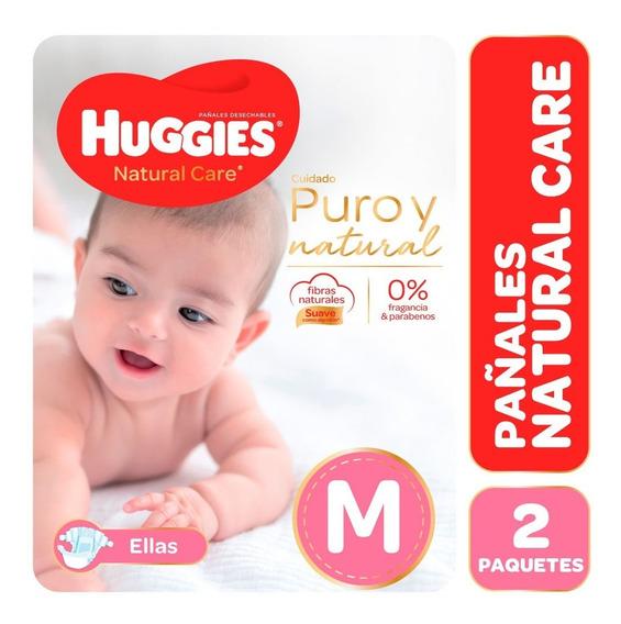Pañales Huggies Natural Care Ellos Y Ellas Promopack Pack X2