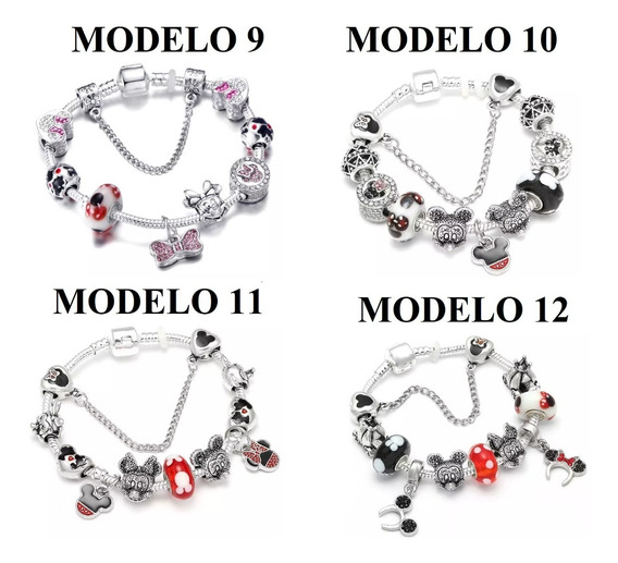 Pulseira Berloque Pandora Minnie Mickey Disney