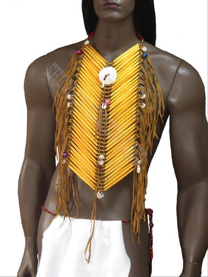 Colar Peitoral Indigena Americano Longo Etnico Hipster Xamã