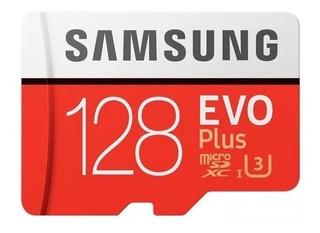 Cartão Samsung Micro Sdxc Evo Plus 128gb 100mb/s U3 4k
