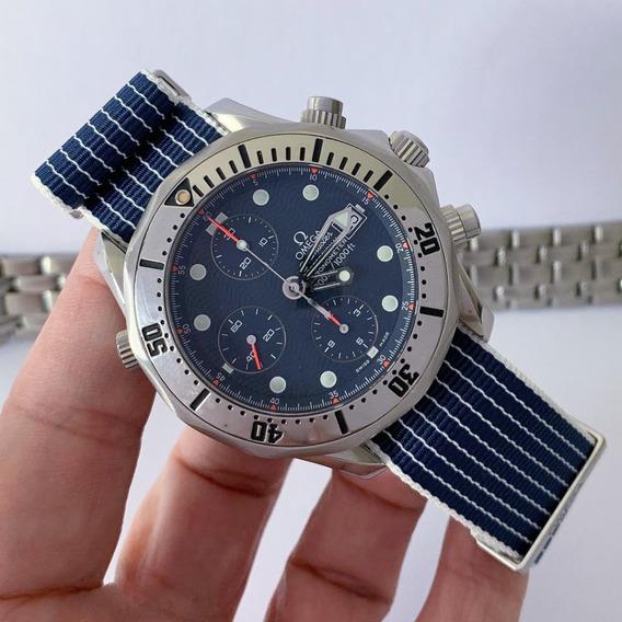 Omega Seamaster Diver 300 M Chronograph Duas Pulseiras