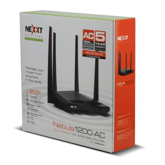 Router Wifi N Nexxt Nebula 1200mbps Wds 5dbi 4 Antenas