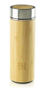 Garrafa Térmica Bento Chai Vidro E Bamboo Bento Store Bento