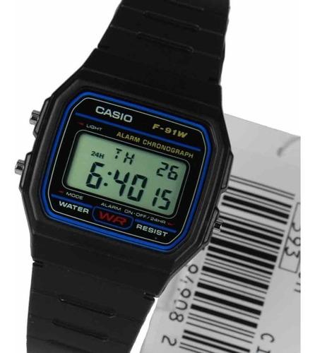 Reloj Casio F-91u Digital- Negro Unisex