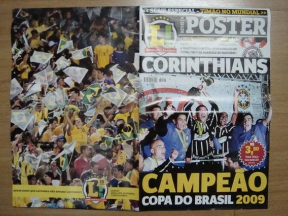 Revista Poster Futebol Lance 2009 Corinthians Campeão Cb