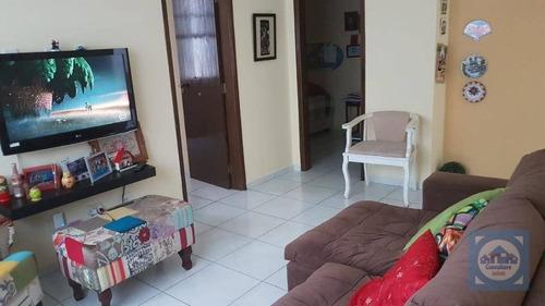 Apartamento Com 2 Dormitórios À Venda, 65 M² Por R$ 307.000,00 - Aparecida - Santos/sp - Ap5911