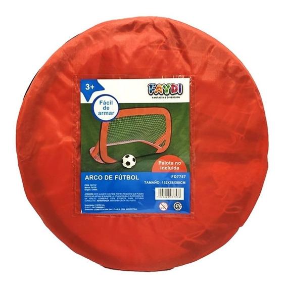 Arco Futbol Grande Autoarmable Con Red Faydi Educando
