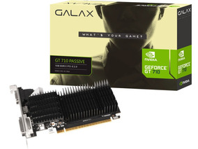 Placa Video Para Pc Geforce Gt710 1gb Ddr3 P/ Até 3 Monitor