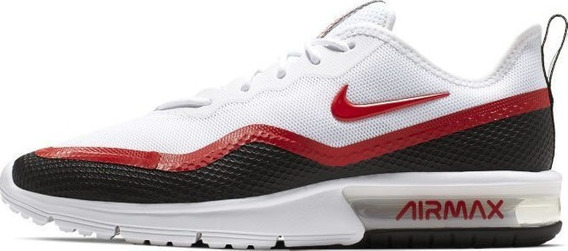 Nike Air Max Sequent 4.5 Se Caballero Blanco Rojo Bq8823-100