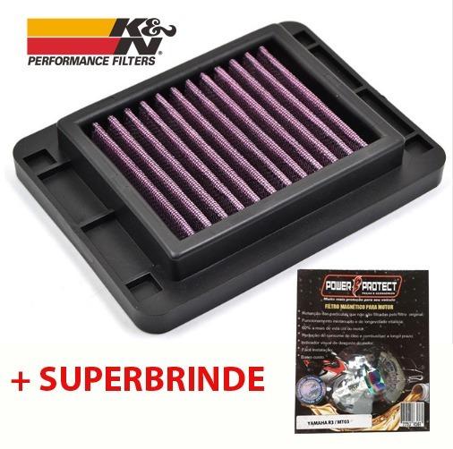 Filtro De Ar Esportivo = K&n Yamaha R3 Mt-03 + Filtro Mag