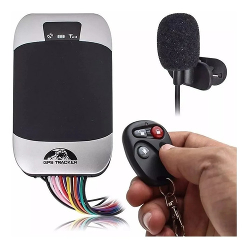 Imagem 1 de 2 de Rastreador Gps Bloqueador Veicular Tk-303g Carro Moto Audio