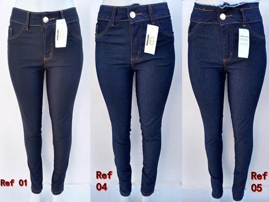 Calça Jeans Feminina Cintura Alta Premium Skinny E Flare
