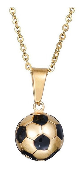 Collar Dije Balon Futbol Soccer Unisex Acero Inoxidable