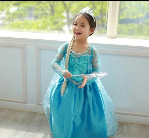 Vestido De Princesa Azul, Rosa, Amarelo E Lilás
