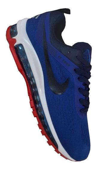 Nike Air Máx 97 Negro Morado Tenis Azul en Mercado Libre