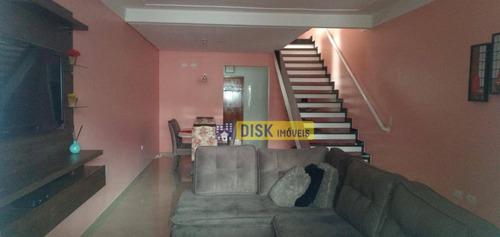 Imagem 1 de 13 de Sobrado Com 3 Dormitórios À Venda, 137 M² Por R$ 650.000 - Vila Francisco Matarazzo - Santo André/sp - So0746