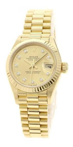Relógio Rolex Datejust Dourado 31mm - (réplica) Novo