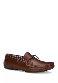 Zapatos Caballero Flat Mocasín Hombre Piel Cafe 2557663