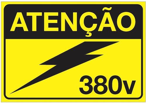 Imagem 1 de 5 de Placa De Alerta Para Painéis Elétricos Auto Adesiva 380v
