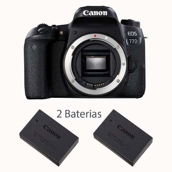 Câmera Canon Eos 77d 24.2mp (somente Corpo)+bateria