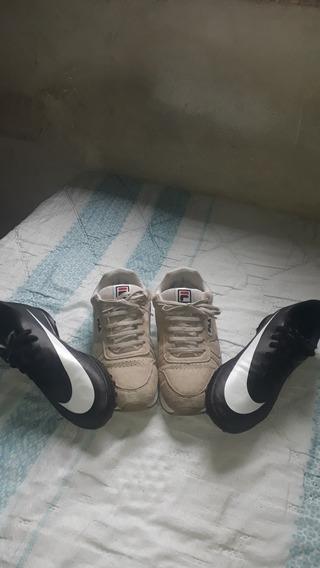 Kit Tênis Masculinos Semi-novos Nike E Fila