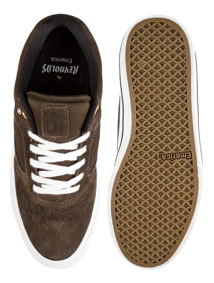 Emerica - Reynolds 3 G6 Vulc / Brown White / Tenis Skate