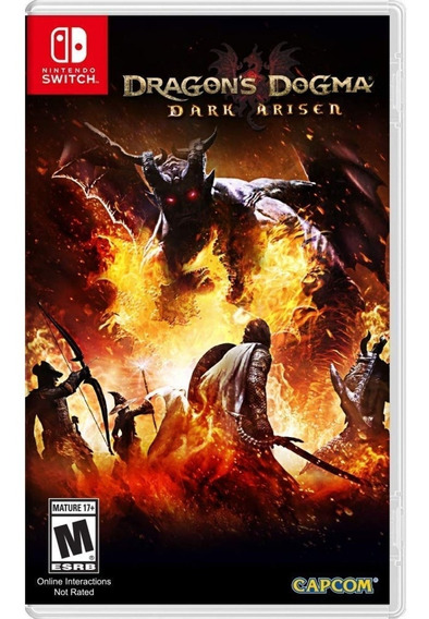 Dragons Dogma Dark Arisen Switch Mídia Física Novo Lacrado