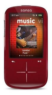 Sandisk Sansa Fuze Reproductor De Mp3 De 4 Gb Rojo Descontin