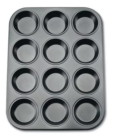Molde Muffins 12 Pyrex Bakers Secret Teflon Alta Calidad