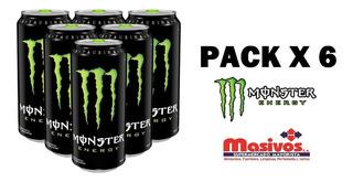 Energizante Monster Bebida Pack X 6 Latas