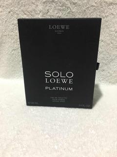 Cajas: Loewe 00l - Solo Loewe. Eau De Toilette. Pour Home.