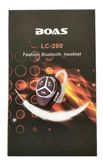Fone De Ouvido Boas Bluetooth Headset Wireless Lc 200