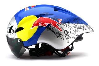 Capacete Red Bull +3 Viseiras Speed Ou Mtb Tamanho 56 A 61cm