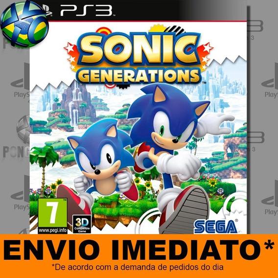 Jogo Ps3 Sonic Generations Psn Play 3 Envio Digital
