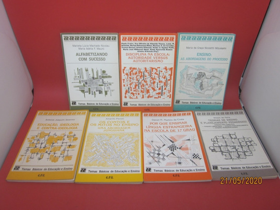 Coleção 7 Livros Temas Básicos De Educação E Ensino