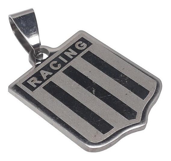 Racing Club - Dije + Cadena - Acero Quirúrgico