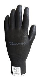 Guante G13 Poliester Negro Bañado En Poliuretano X 120