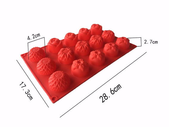 Molde Silicone 15 Cavidades 28.6 X 17.3 X 4.2cm