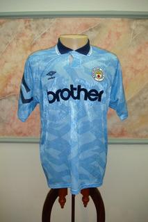 Camisa Futebol Manchester City Inglaterra Umbro Antiga 596