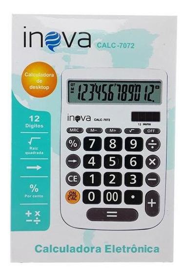 Calculadora Eletrônica 12 Dígitos 16x11 De Mesa Display