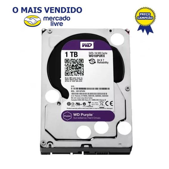 Hd 1tb 1 Tera Wd Purple Sata 6gb/s 5400 Rpm - Super Oferta